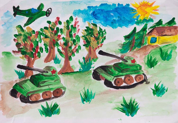 Красивые рисунки на 23 февраля для садика и школы risunok na 23 fevralya 137