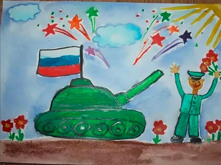 Красивые рисунки на 23 февраля для садика и школы risunok na 23 fevralya 139