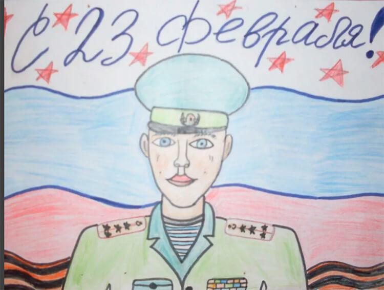 Красивые рисунки на 23 февраля для садика и школы risunok na 23 fevralya 2