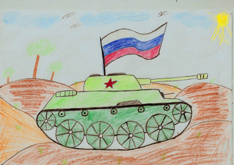 Красивые рисунки на 23 февраля для садика и школы risunok na 23 fevralya 35