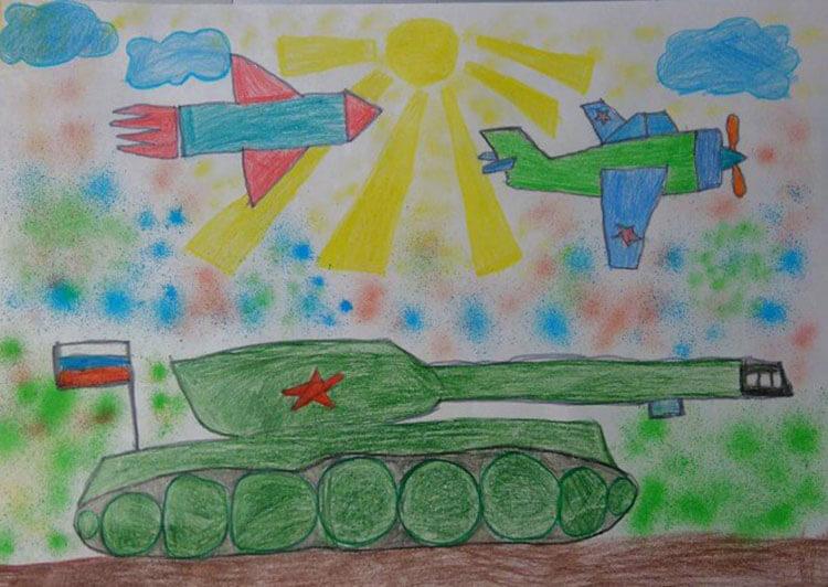 Красивые рисунки на 23 февраля для садика и школы risunok na 23 fevralya 36