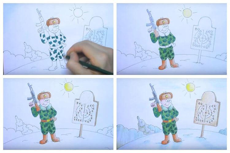 Красивые рисунки на 23 февраля для садика и школы risunok na 23 fevralya 41