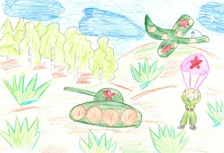 Красивые рисунки на 23 февраля для садика и школы risunok na 23 fevralya 47