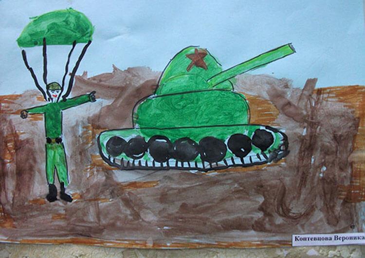 Красивые рисунки на 23 февраля для садика и школы risunok na 23 fevralya 53