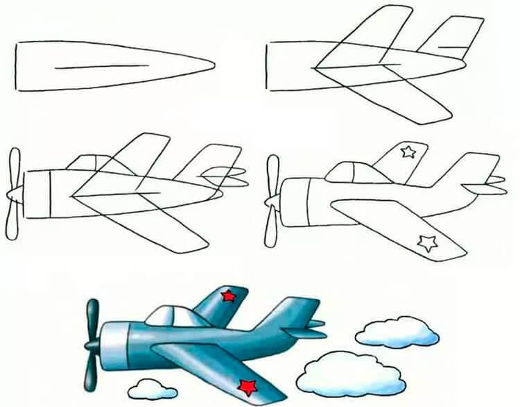 картинки танков карандашом самолеты резинку