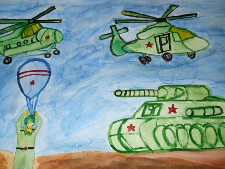Красивые рисунки на 23 февраля для садика и школы risunok na 23 fevralya 6