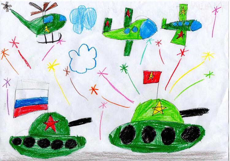 Красивые рисунки на 23 февраля для садика и школы risunok na 23 fevralya 64