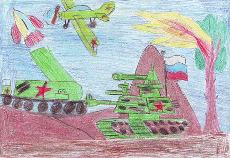 Красивые рисунки на 23 февраля для садика и школы risunok na 23 fevralya 66