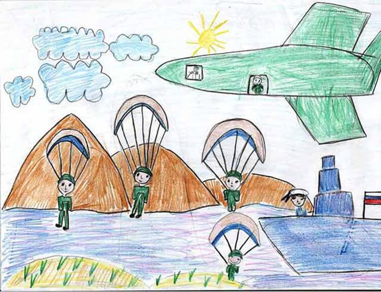 Красивые рисунки на 23 февраля для садика и школы risunok na 23 fevralya 67