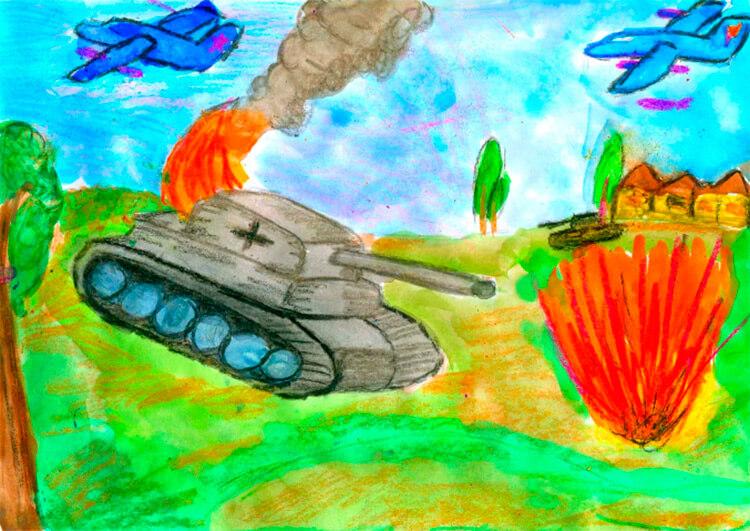 Красивые рисунки на 23 февраля для садика и школы risunok na 23 fevralya 71