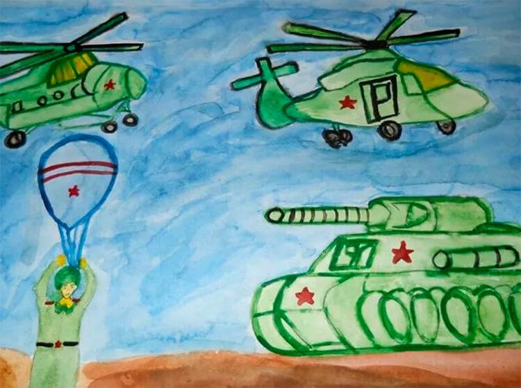 Красивые рисунки на 23 февраля для садика и школы risunok na 23 fevralya 72