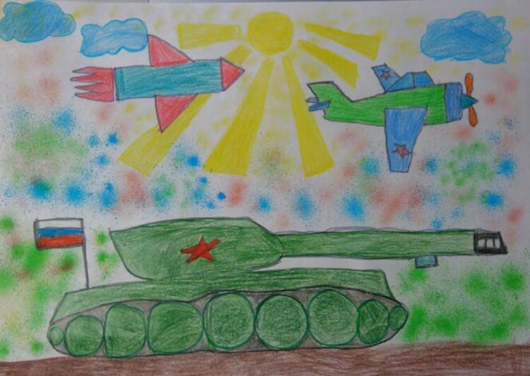 Красивые рисунки на 23 февраля для садика и школы risunok na 23 fevralya 73