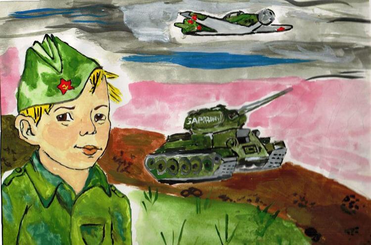 Красивые рисунки на 23 февраля для садика и школы risunok na 23 fevralya 74