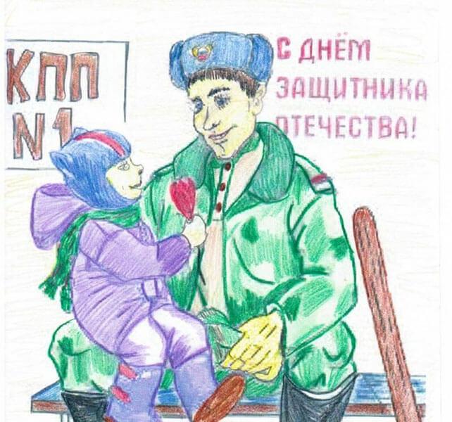 Красивые рисунки на 23 февраля для садика и школы risunok na 23 fevralya 8
