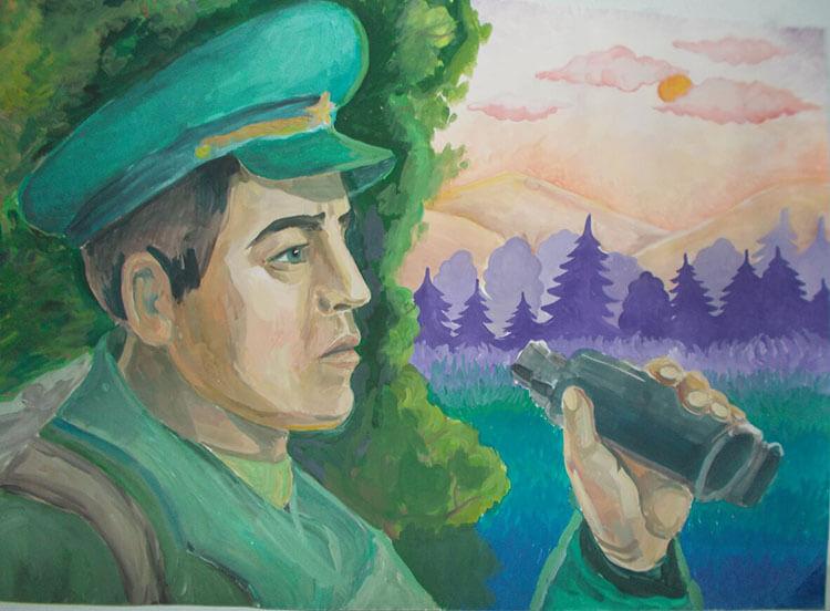 Красивые рисунки на 23 февраля для садика и школы risunok na 23 fevralya 84