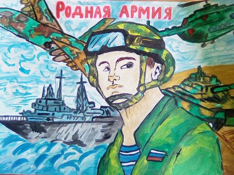 Красивые рисунки на 23 февраля для садика и школы risunok na 23 fevralya 87