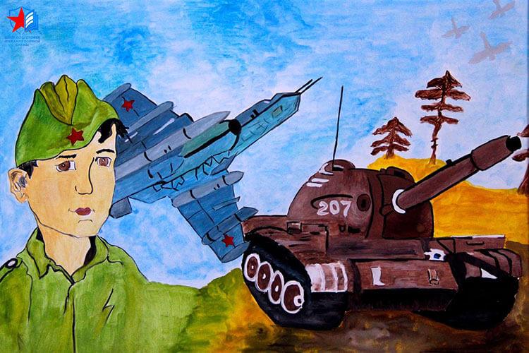 Красивые рисунки на 23 февраля для садика и школы risunok na 23 fevralya 88