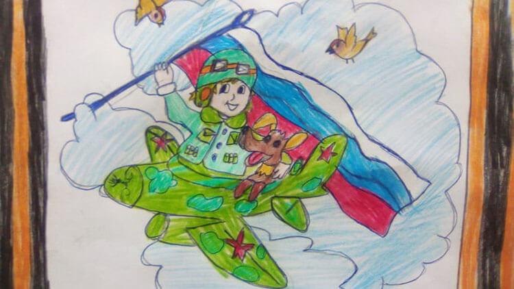 Красивые рисунки на 23 февраля для садика и школы risunok na 23 fevralya 93
