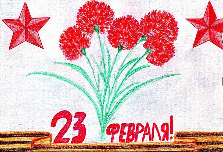 Красивые рисунки на 23 февраля для садика и школы risunok na 23 fevralya 99