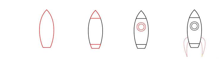 Как нарисовать рисунок на день космонавтики для сада и школы 50 53