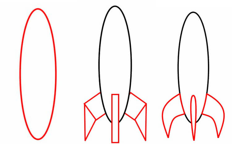 Как нарисовать рисунок на день космонавтики для сада и школы 56 58