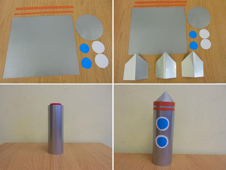 Как сделать ракету своими руками: поделка для сада и школы 61 64