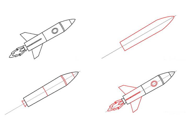 Как нарисовать рисунок на день космонавтики для сада и школы 62 65