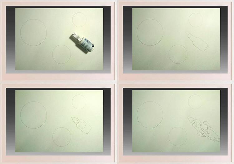 Как нарисовать рисунок на день космонавтики для сада и школы 79 82