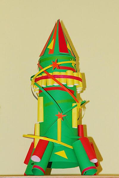 Как сделать ракету своими руками: поделка для сада и школы Podelka raketa 10