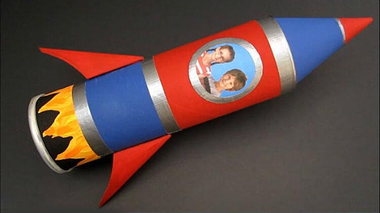 Как сделать ракету своими руками: поделка для сада и школы Podelka raketa 50