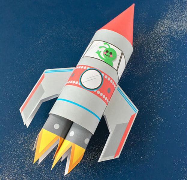 Как сделать ракету своими руками: поделка для сада и школы Podelka raketa 51