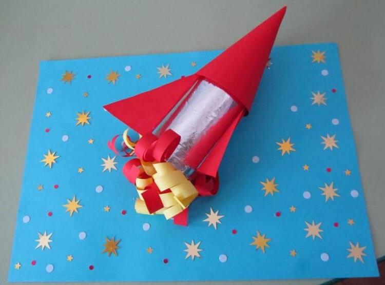 Как сделать ракету своими руками: поделка для сада и школы Podelka raketa 66