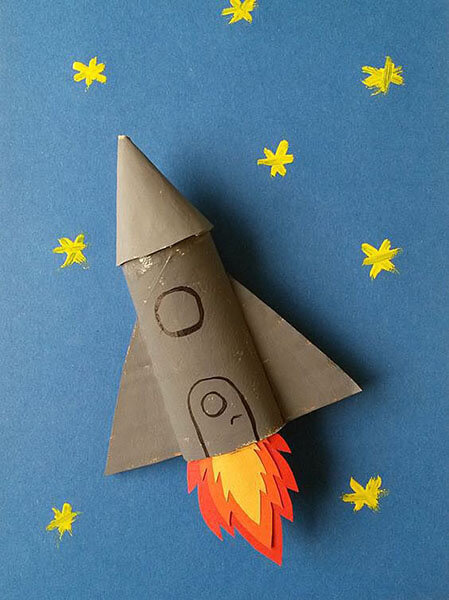 Как сделать ракету своими руками: поделка для сада и школы