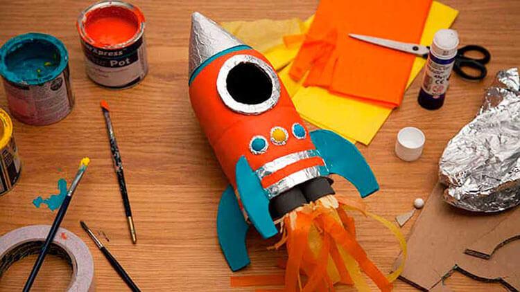 Как сделать ракету своими руками: поделка для сада и школы Podelka raketa 79