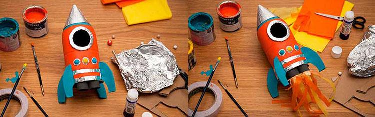 Как сделать ракету своими руками: поделка для сада и школы Podelka raketa 82