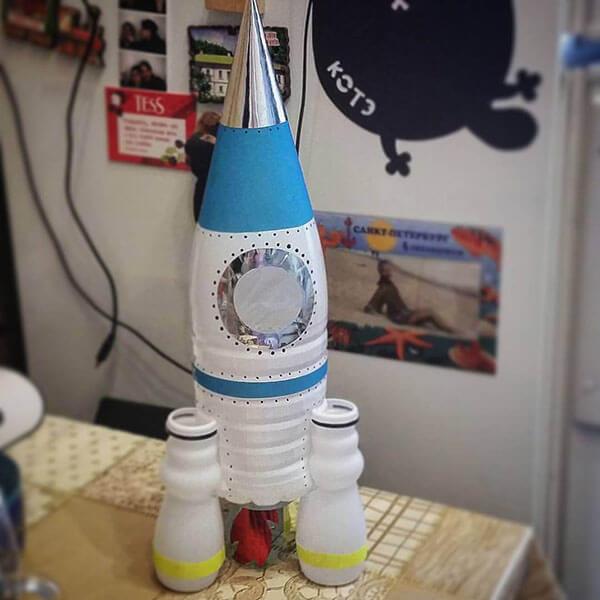 Как сделать ракету своими руками: поделка для сада и школы Podelka raketa 85