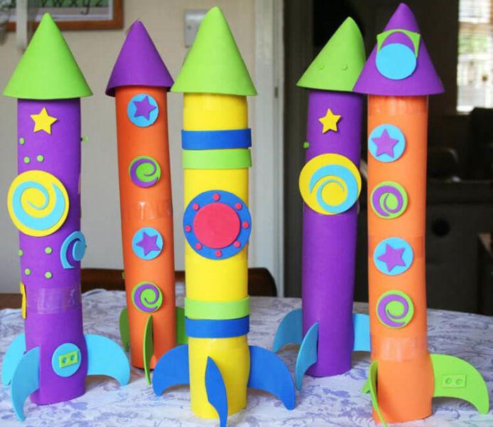 Как сделать ракету своими руками: поделка для сада и школы Podelka raketa 9