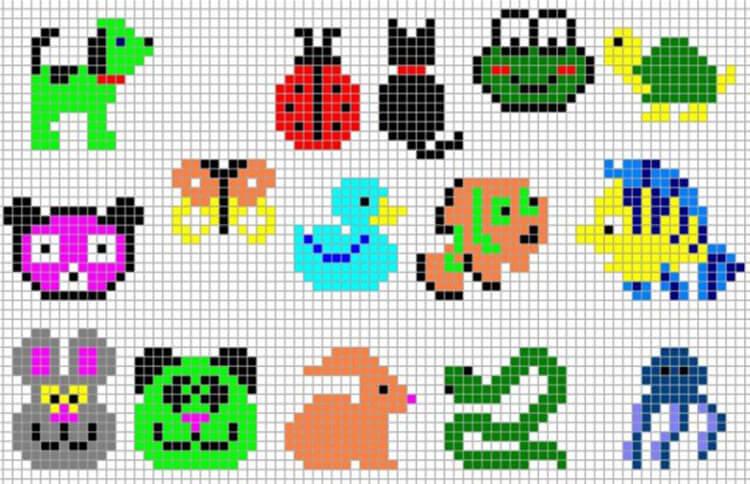 Красивые и простые рисунки по клеточкам в тетради для начинающих graficheskie risunki po kletochkam 116