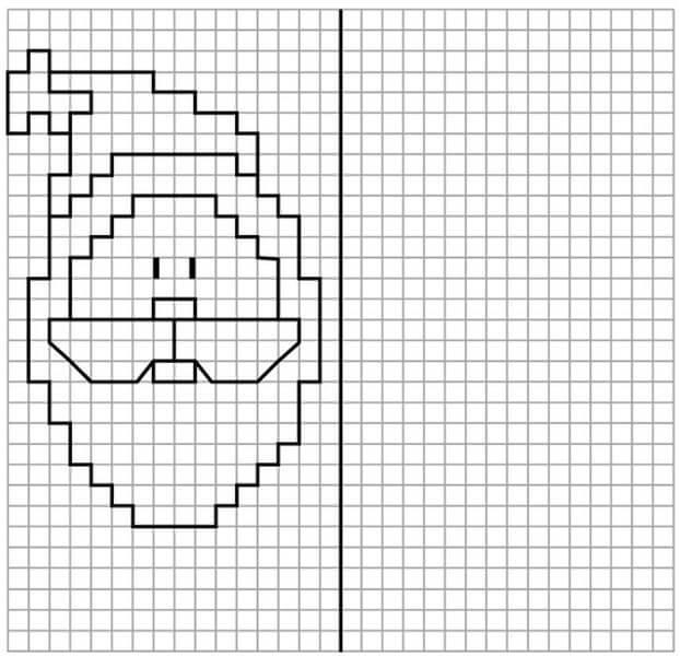 Красивые и простые рисунки по клеточкам в тетради для начинающих graficheskie risunki po kletochkam 12