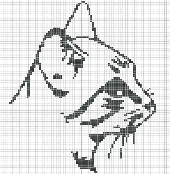 Красивые и простые рисунки по клеточкам в тетради для начинающих graficheskie risunki po kletochkam 129