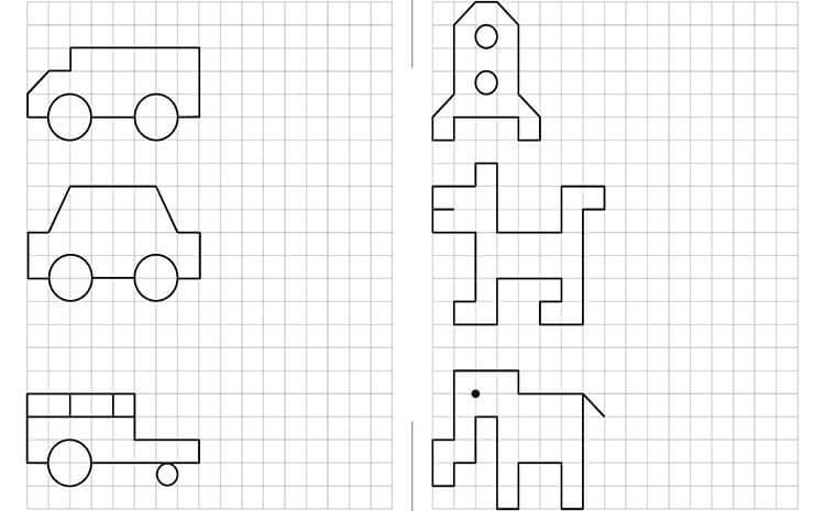Красивые и простые рисунки по клеточкам в тетради для начинающих graficheskie risunki po kletochkam 13