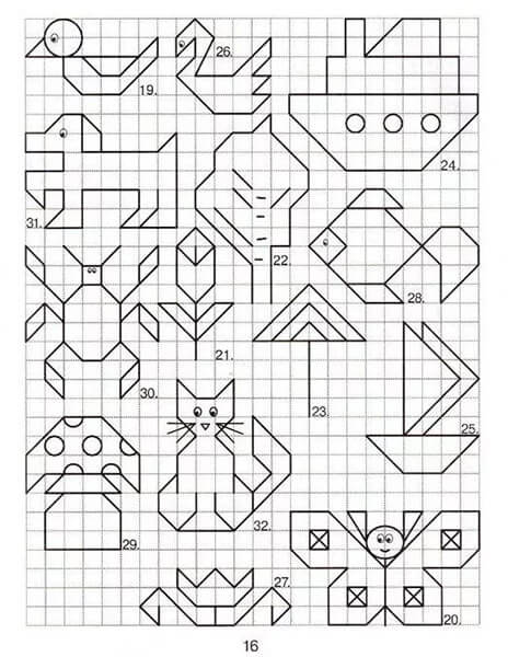 Красивые и простые рисунки по клеточкам в тетради для начинающих graficheskie risunki po kletochkam 136