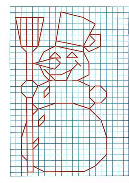 Красивые и простые рисунки по клеточкам в тетради для начинающих graficheskie risunki po kletochkam 137