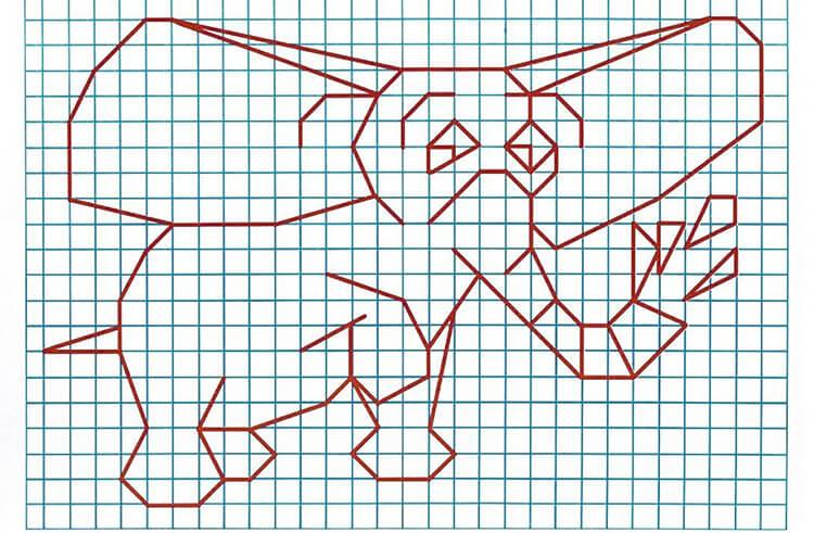 Красивые и простые рисунки по клеточкам в тетради для начинающих graficheskie risunki po kletochkam 138