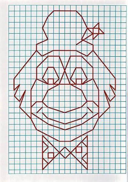 Красивые и простые рисунки по клеточкам в тетради для начинающих graficheskie risunki po kletochkam 139