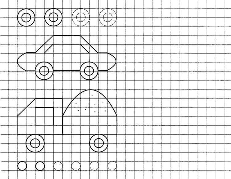 Красивые и простые рисунки по клеточкам в тетради для начинающих graficheskie risunki po kletochkam 14