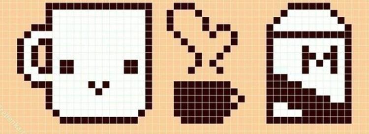 Красивые и простые рисунки по клеточкам в тетради для начинающих graficheskie risunki po kletochkam 142