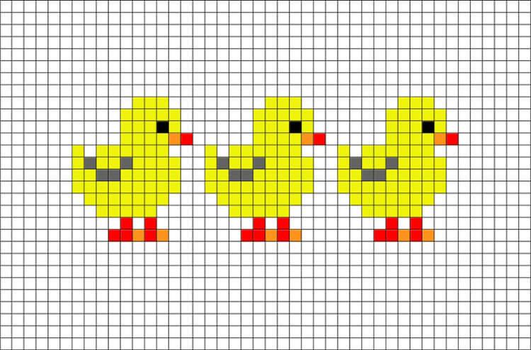 Красивые и простые рисунки по клеточкам в тетради для начинающих graficheskie risunki po kletochkam 143