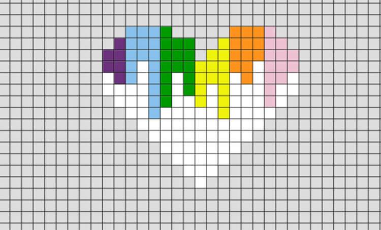 Красивые и простые рисунки по клеточкам в тетради для начинающих graficheskie risunki po kletochkam 146