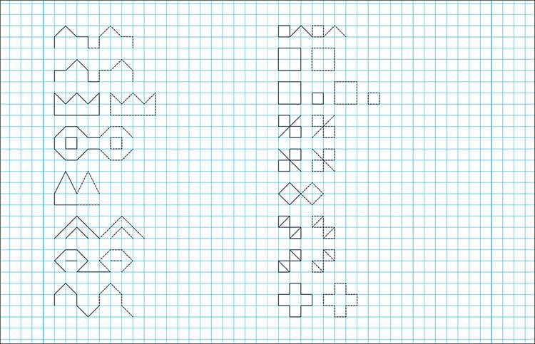 Красивые и простые рисунки по клеточкам в тетради для начинающих graficheskie risunki po kletochkam 15